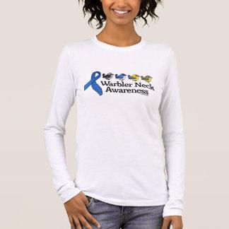 Warbler Neck Awareness Ribbon Long Sleeve T-Shirt