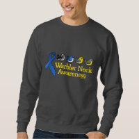 Warbler Neck Awareness Ribbon Men's Basic Sweatshirt