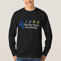Warbler Neck Awareness Ribbon Men's Basic Long Sleeve T-Shirt