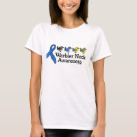 Warbler Neck Awareness Ribbon Women's Basic T-Shirt