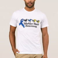 Warbler Neck Awareness Ribbon Men's Basic American Apparel T-Shirt