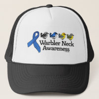 Warbler Neck Awareness Ribbon Trucker Hat
