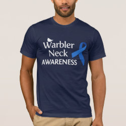 Men's Basic American Apparel T-Shirt with Warbler Neck Awareness design