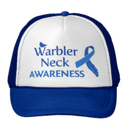 Trucker Hat with Warbler Neck Awareness design