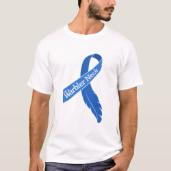 Men's Basic T-Shirt with Warbler Neck Ribbon design