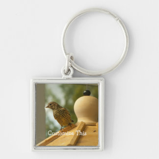 Warbler on the Lookout; Customizable Keychain