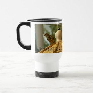Warbler on the Lookout; Customizable Travel Mug