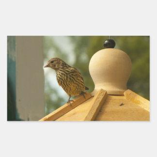 Warbler on the Lookout Rectangular Sticker