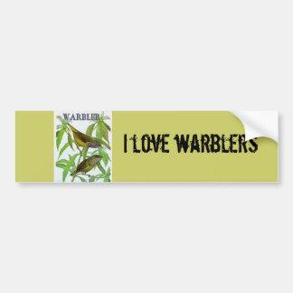 Warbler on Tree Bumper Sticker