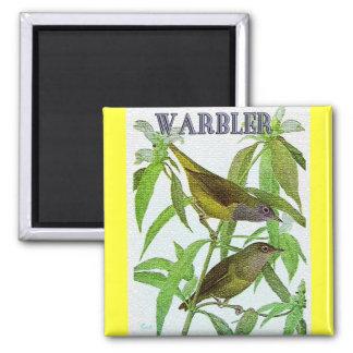 Warbler on Tree Fridge Magnets