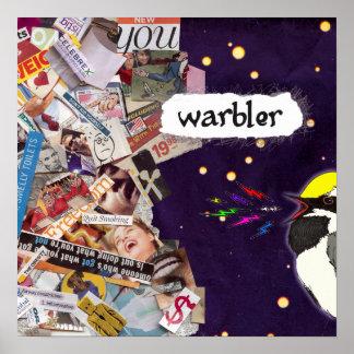 Warbler Screech Poster
