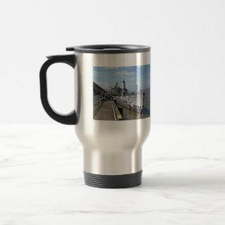 Warcraft machine in bay against blue sky 15 oz stainless steel travel mug