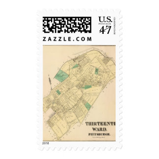 Ward 13 of Pittsburgh, Pennsyvania Stamp