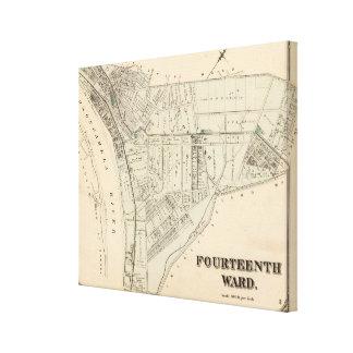 Ward 14 of Pittsburgh, Pennsyvania 2 Canvas Print