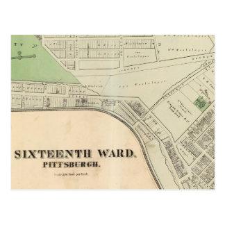 Ward 16 of Pittsburgh, Pennsyvania Postcard