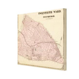 Ward 20 of Pittsburgh, Pennsyvania Canvas Print