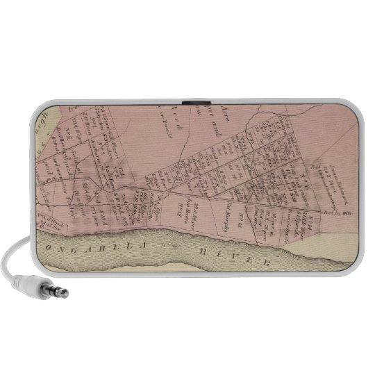 Ward 2 of Pittsburgh, Pennsyvania 1784 map Portable Speaker