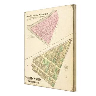 Ward 3 of Pittsburgh, Pennsyvania 1784 map Canvas Print