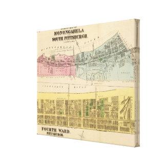 Ward 4 Monongahela, S Pittsburgh boroughs Canvas Print
