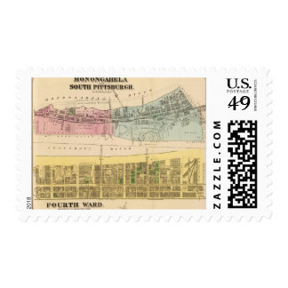 Ward 4 Monongahela, S Pittsburgh boroughs Stamp