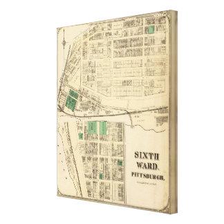 Ward 6 of Pittsburgh, Pennsyvania Canvas Print