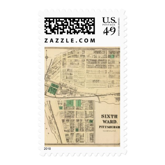 Ward 6 of Pittsburgh, Pennsyvania Postage