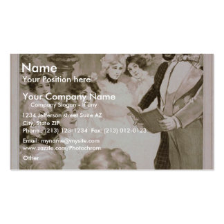 Ward and Vokes, 'Isn't it Heavenly' Retro Theater Business Card
