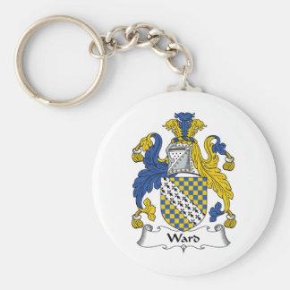 Ward Family Crest Basic Round Button Keychain