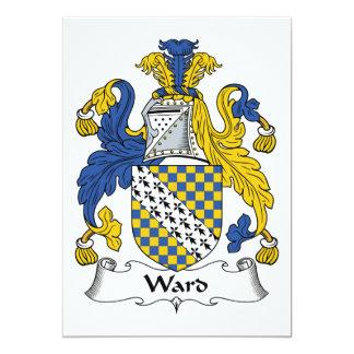 Ward Family Crest Card
