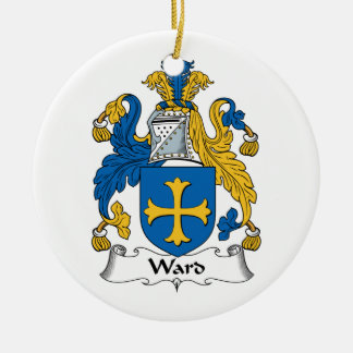 Ward Family Crest Christmas Ornament