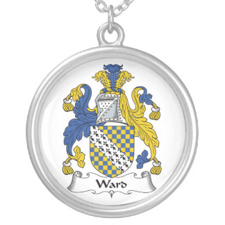 Ward Family Crest Round Pendant Necklace