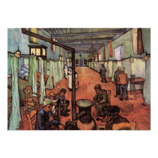 Ward in the Hospital in Arles by Vincent van Gogh Personalized Invite