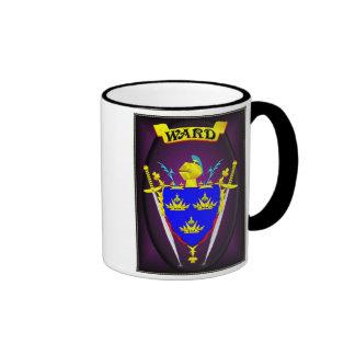 WARD IRISH FAMILY HERALDIC SHIELD/CREST COFFEE MUG