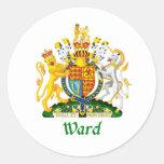 Ward Shield of Great Britain Round Sticker