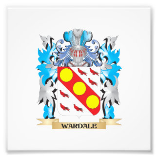 Wardale Coat of Arms - Family Crest Photographic Print