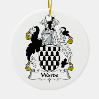 Warde Family Crest Christmas Tree Ornament