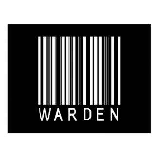 Warden Bar Code Postcard