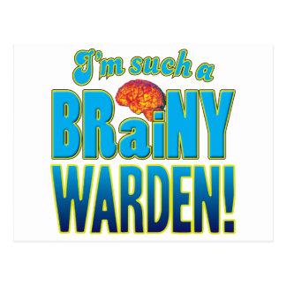 Warden Brainy Brain Postcard