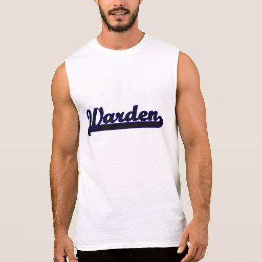 Warden Classic Job Design Sleeveless T-shirts Tank Tops, Tanktops Shirts
