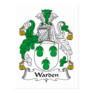 Warden Family Crest Postcard