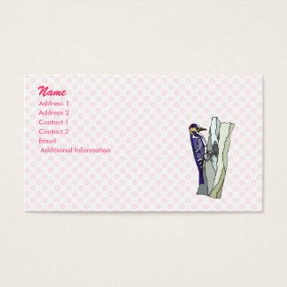 Warden Woodpecker Business Card