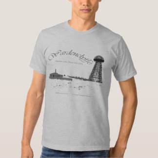 Wardenclyffe-Nikola Tesla-Wireless Pwer Tee Shirt