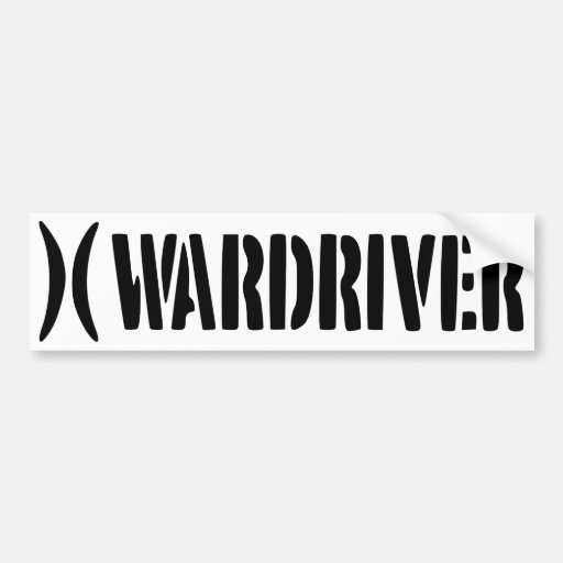 Wardriver adhesive bumper sticker