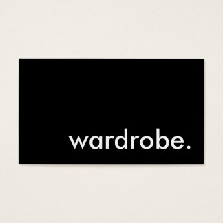 wardrobe. business card