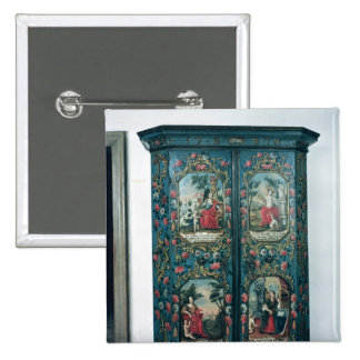 Wardrobe decorated with scenes of the four pinback button