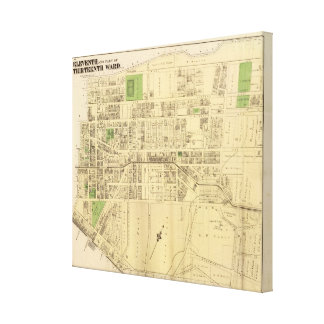 Wards 11, 13 of Pittsburgh, Pennsyvania Canvas Print