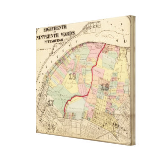 Wards 1819 of Pittsburgh, Pennsyvania Canvas Print