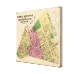 Wards 5, 7-8 of Pittsburgh, Pennsyvania Canvas Print