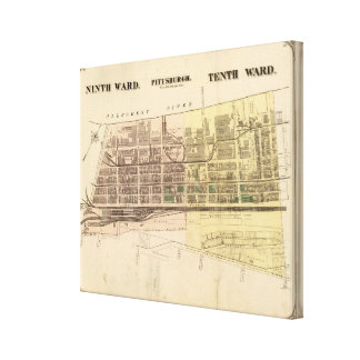 Wards 9-10 of Pittsburgh, Pennsyvania Canvas Print