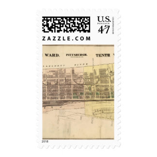 Wards 9-10 of Pittsburgh, Pennsyvania Stamp